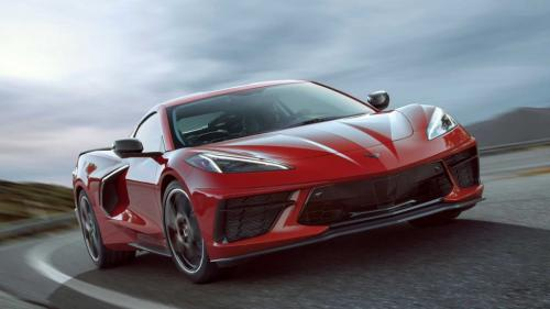 Chevrolet Corvette C8 Stingray, вид спереди
